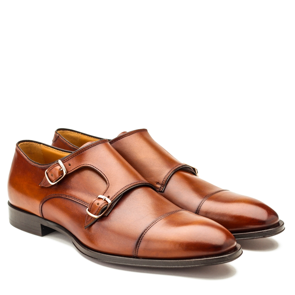 SONDERAKTION IN DER CORONAKRIESE - Herrenschuh, Monk, cognac