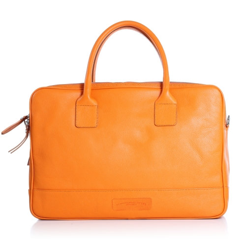 Business-Handtasche, Kalbsleder, orange