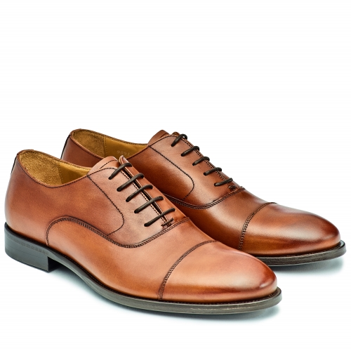 Herren Business-Oxford-Captoe, Cognac