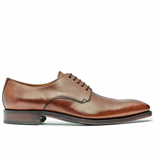 Herren Business Derby-Plain braun elegant coole Form