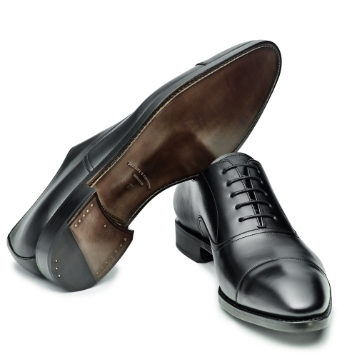 Herren Business-Oxford-Captoe, schwarz