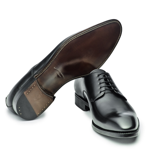 Herren Business Derby-Plain, schwarz - elegant coole Form